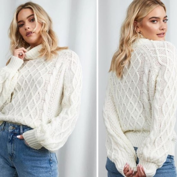 XLE Sweaters - XLE Emily Cable Knit Sweater